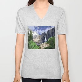 Geometric Yosemite Unisex V-Neck
