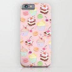sweet pattern aka cake , cupcake and macaroon iPhone 6s Slim Case