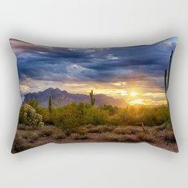 A Sonoran Desert Sunrise Rectangular Pillow
