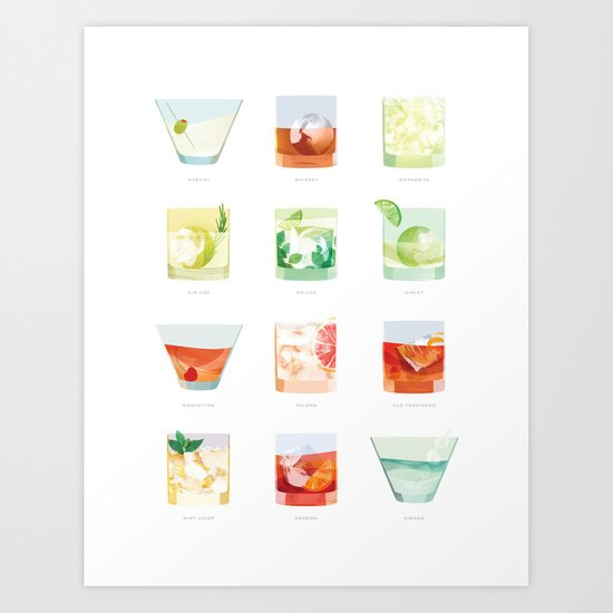 Cocktail Hour: Classic Cocktails Poster by sferone