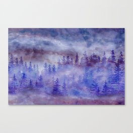 Misty Pine Forest Canvas Print