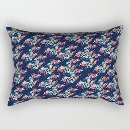 Happy Gypsy, Floral Pattern Rectangular Pillow