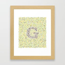 """G"" Eye Test Full Framed Art Print"