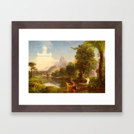Thomas Cole - The Voyage of Life Youth, 1842 Framed Art Print