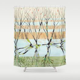 withered tree Shower Curtain