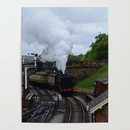 Steam Train In Yorkshire Poster