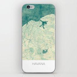Havana Map Blue Vintage iPhone Skin