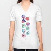 sushi V-neck T-shirts featuring Sushi by Óscar Andrés Berrío