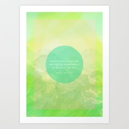 green peace Art Print