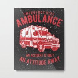 Ambulance Rescue Squad Metal Print