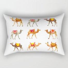 Cute watercolor camels Rectangular Pillow