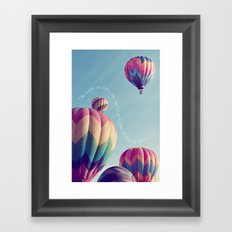 the higher we soar Framed Art Print
