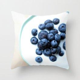 Blueberries & Yogurt  Throw Pillow