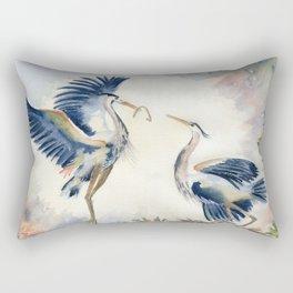 Great Blue Heron Couple Rectangular Pillow