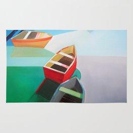 Five Boats Rug