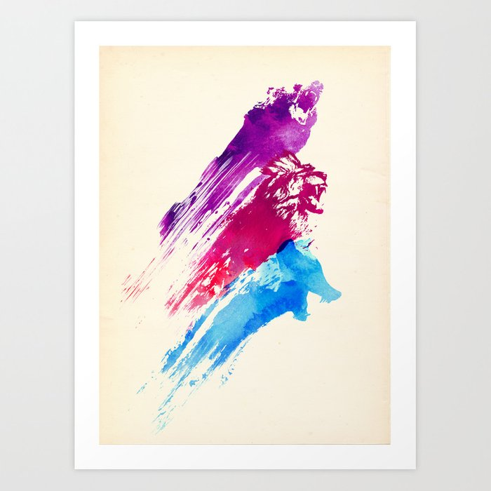 Wild colours Art Print