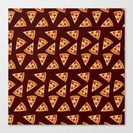 Tasty pizza pattern Canvas Print