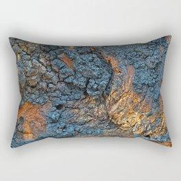 Charred Wood Texture Rectangular Pillow