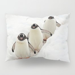 Gentoo Penguins on a Fishing Trip Pillow Sham