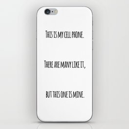 Cell Phone Cover White iPhone Skin