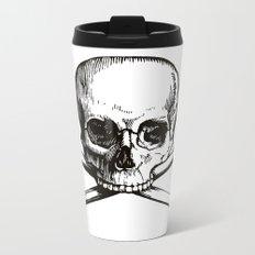 Skull and Crossbones | Jolly Roger Metal Travel Mug
