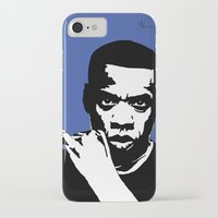 jay z iPhone & iPod Cases featuring Jay Z by Gary Barling