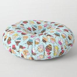 Cupcake Parade Floor Pillow
