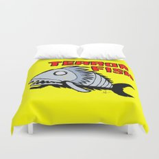 Terror fish Duvet Cover