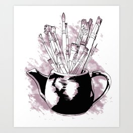 Happiness in a Teapot2 Art Print