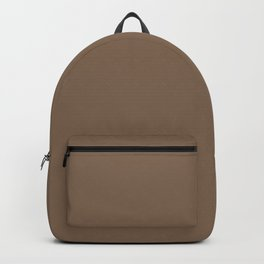 Dark Chalky Pastel Brown Solid Color Backpack