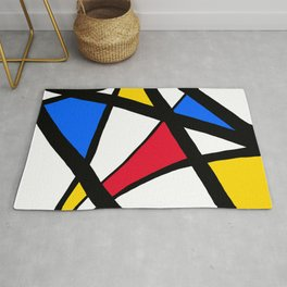 Red, Yellow, Blue Primary Abstract Rug