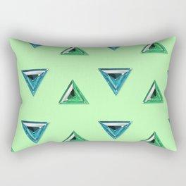 Trillion Gemstone Pattern Rectangular Pillow