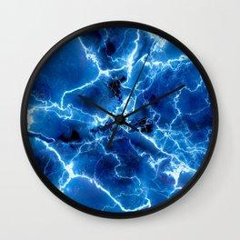 Blue Lightnight Wall Clock