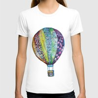 hot air balloon T-shirts featuring Hot Air Balloon by Emily Stalley