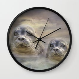 Wet And Wild 2 Wall Clock