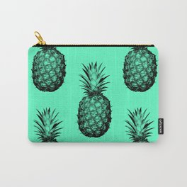 Pineapple! Black on mint green Carry-All Pouch