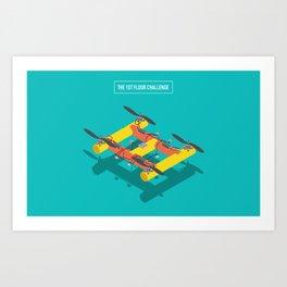 The 1st Floor Challenge Art Print