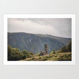 Glendalough Mountain Monastery Art Print