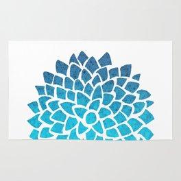 Sea Glass Dahlia Rug