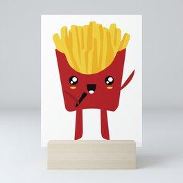FRENCH FRIES SUPERSTAR SINGER Mini Art Print
