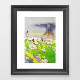 Flower Girls Framed Art Print