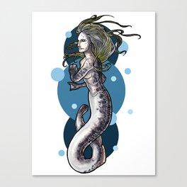 Sea Lamprey Mermaid Canvas Print