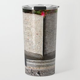 Holy Bible In Stone Travel Mug