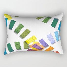 Colorful interlocking block pattern Rectangular Pillow