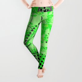 Abstract ornament with hearts Leggings