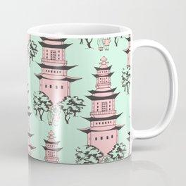 Vintage Chinese Pagoda Illustration (PINK) Coffee Mug