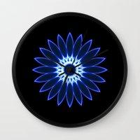 chakra Wall Clocks featuring Chakra by Mr. Pattern Man