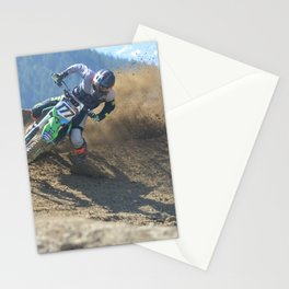 Dishing the Dirt - Motocross Champion Race Stationery Cards