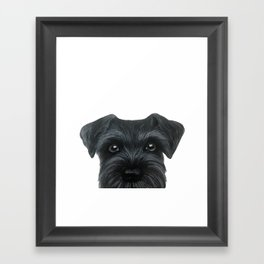 Black Schnauzer, original painting and design by miart Framed Art Print