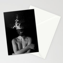 Hot Girl Abstract Art Stationery Cards